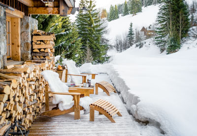 Ski Chalet Photography Chilling Out