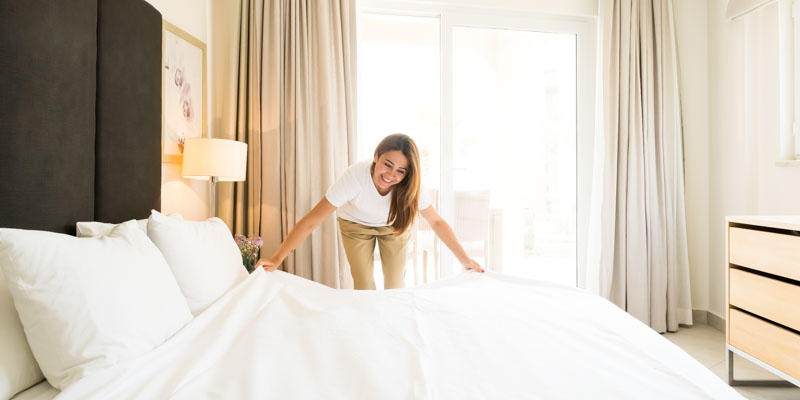 Hotel photographer London -Housekeeping Photography